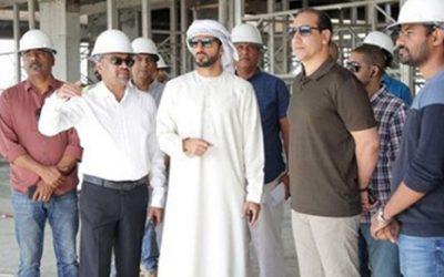 H.H. Sheikh Rashid bin Humaid Al Nuaimi visiting City American School site